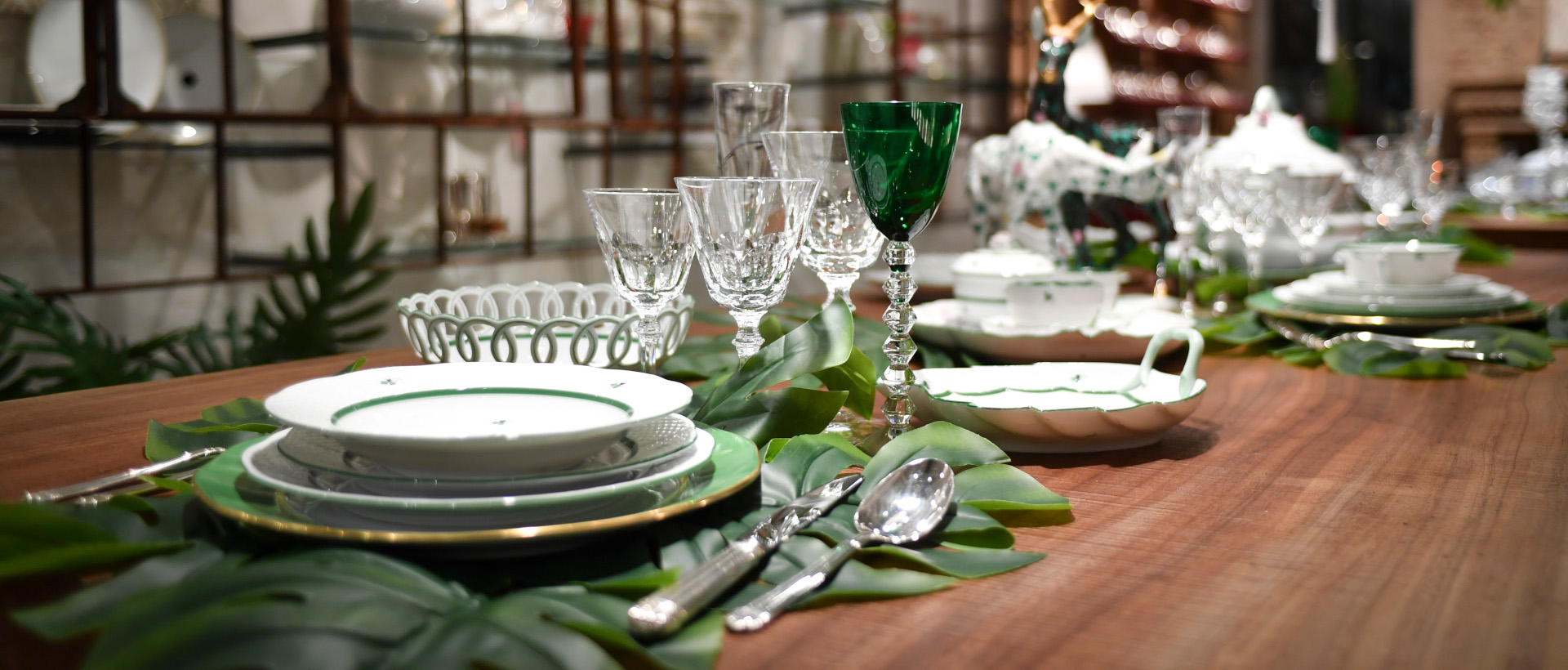 Morandin table set with Herend and Baccarat products