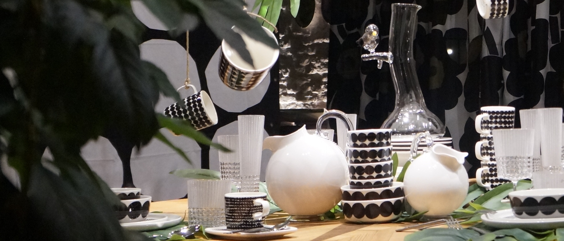 Morandin showcase with Marimekko products