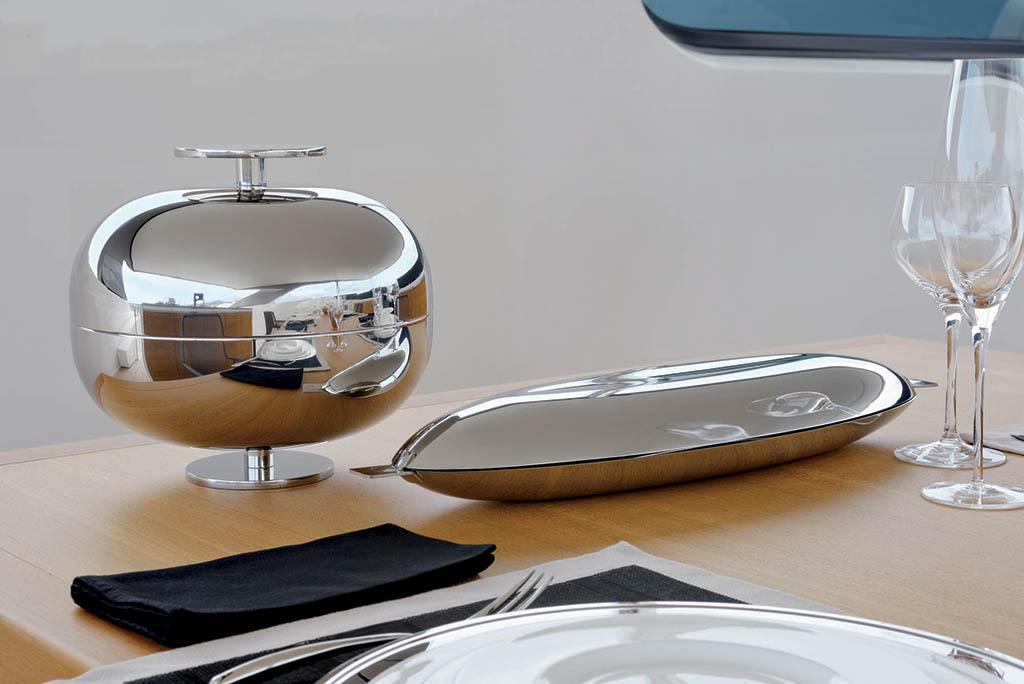 Sambonet - Centrotavola Luxury Gio Ponti e pesciera RST in acciaio
